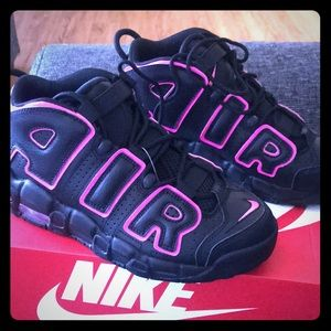 Black and pink nike uptempo new with original box.